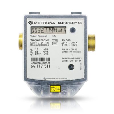 Batteriebetriebener Kompakt-Wärmezähler ULTRAHEAT XS ist technisch überlegen, verschleißfrei, betriebssicher.